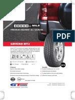 GTRadial Tire Savero HT2 Product Sheet