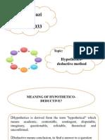 Hypothetico Deductive Method
