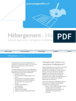 Guide Hebergement Hosting