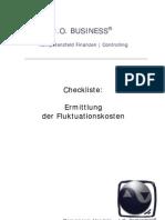 Checkliste Ermittlung der Fluktuationskosten