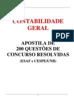 Contabilidade_200_questoes Esaf e Cespe