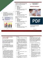 Triptico Programa Ampliado de Inmunizaciones (PAI).