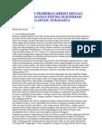 Pelaksanaan Pemberian Kredit Dengan Jaminan Perjanjian Fidusia Di Koperasi Syariah