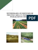 Deteriorarea Ecosistemelor Prin Poluarea Cu Pesticide Si Ingrasaminte