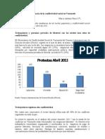 Tendencias de la Conflictividad Social en Venezuela. Abril2011