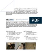 Tile Redi Products Brochure