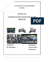 Buying Behaviour of Two Wheeler REPORT