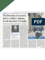 """05.05.11 corriere di bologna """"Dai bivacchi ai lavavetri"""