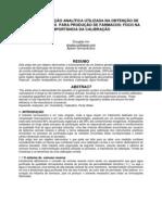 A instrumentação analítica  utilizada na obtenção de água purificada  para produção de farmácos
