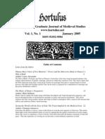 Hortulus Volume 1 2005