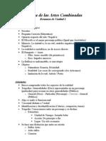 Estética de las Artes Combinadas - Resumen Unidad 1