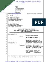 Liberi v Taitz Plaintiffs Opposition to Orly Taitz and DOFF's Anti Slapp and Motion to Dismiss Doc 186