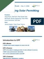 Solar Permitting Webinar Clean Power Finance