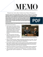 AIPAC Memo - Palestinian Unity Deal Undemines Peace Prospects