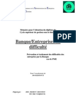 Banque, Entreprises en difficulté Prévention et traitement des difficultés des entreprises par la B