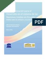 La Comunicación para el Desarrollo en el sistema de las Naciones Unidas en Ecuador