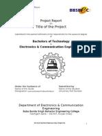 B.tech Project Report Format 2008