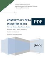 Contrato Ley de La Industria Textil Del Ramo de La Seda y Toda Clase de Fibras