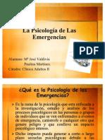 Psicología de las emergencias