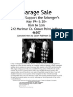 Seberger Garage Sale