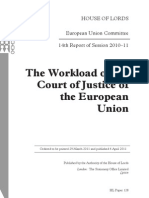 The Workload of the Court of Justice of the European Union