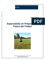 ESPECIALISTA EN PREPARACIÓN FÍSICA DEL FÚTBOL. ON LINE