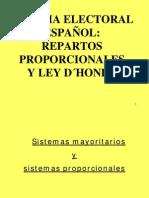 SISTEMA ELECTORAL ESPAÑOL