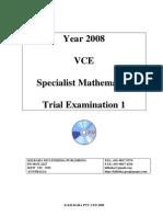 SM Exam 1 2008 Trial