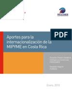 Aportes para la internacionalización de la MIPYME en Costa Rica