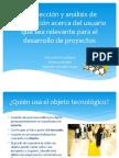 Recolección y análisis de información acerca del usuario
