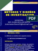 METODOS Y DISEÑOS DE INVESTIGACION