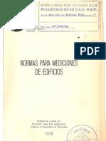 Normas Para Mediciones de Edificios MOP