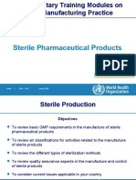 Sterile Pharmaceutical Products