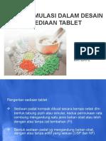 Preformulasi Dalam Desain Sediaan Tablet