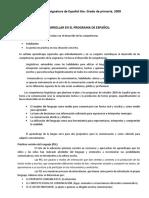 Asignatura de Español 5TO Grado RIEB