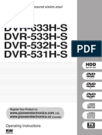 Pioneer DVR533HS Operating Instructions