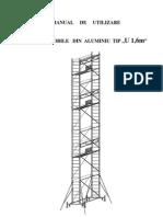 Manual de Utilizare Schele Mobile Aluminiu 16x07