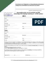 Inschrijvingsformulier EPB + EAP 2011