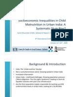 Socioeconomic Inequalities in Child Malnutrition in Urban India