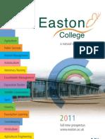 Easton College FE Prospectus 2011