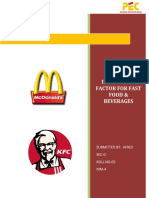 Final Project on Study of Purchase Inluencing Factor for Fast Food & Beverages