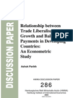 Relationship Between Trade Liberalization, Growth and BOP in Developing Countries_ Timothy Mahea