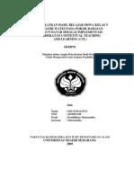 Meningkatkan Hasil Belajar Siswa Kelas v Sd Negeri Wates Pada Pokok Bahasan Bangun Datar Sebagai Implementasi Pendekatan Contextual Teaching and Learning (Ctl)