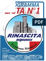 Programma RINASCITA MIGNANESE-2011 Da Inserire Nel Blog