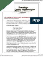 Some Major Mind-Control Programming Sites