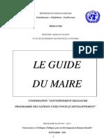 Le guide du maire (PNUD - 2000)