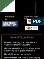 Presentación de los Candidatos al Premio 2008 al mejor Fundraiser de Asia Pacífico