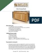 Plans Cedar Bench