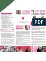 Folleto 22 propuestas del programa municipal UPyD Cáceres