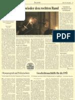 1 Seite im Standard zum rechtsextremen 8.Mai Gedenken in Wien
